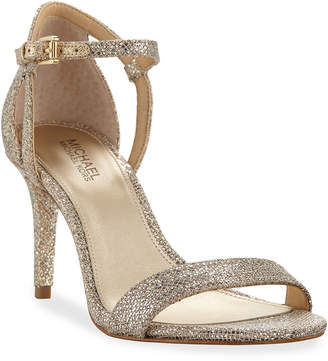 MICHAEL Michael Kors Simone Fabric Strappy Sandals, Gray