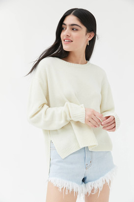 Urban Outfitters Graham Side Slit Crew Neck Sweater