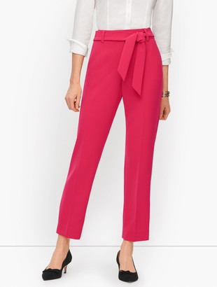 Talbots Stretch Crepe Tie Waist Ankle Pants