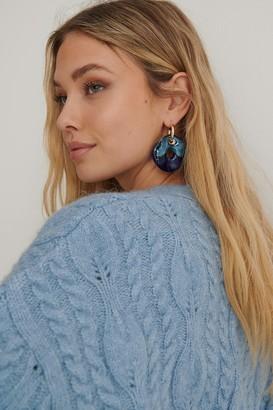 NA-KD Big Porcelain Ring Earrings