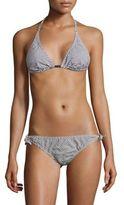 Malia Mills Nadege Saloon Striped Bikini Top