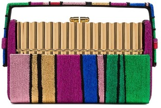 BIENEN-DAVIS Xenon striped clutch