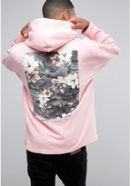 Asos Oversized Hoodie With Freedom Print In Pink