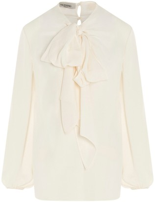 Valentino Pussybow Detailed Blouse