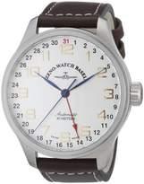 oversized watches for men shopstyle uk zeno watch basel men s automatic watch oversized 8554z f2 leather strap