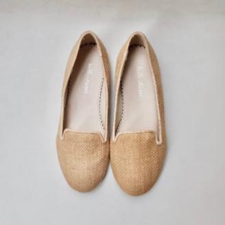 Belle Chiara - Rustic Beige Linen Cary Shoes - 32   linen   rustic beige