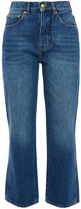 Victoria Victoria Beckham Faded High-rise Straight-leg Jeans