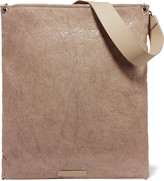 Brunello Cucinelli Leather-trimmed coated canvas clutch