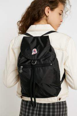 Invicta Minisac Black Glossy Packable Backpack - black at Urban Outfitters