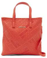 Love Moschino Logo Embossed Convertible Backpack Tote