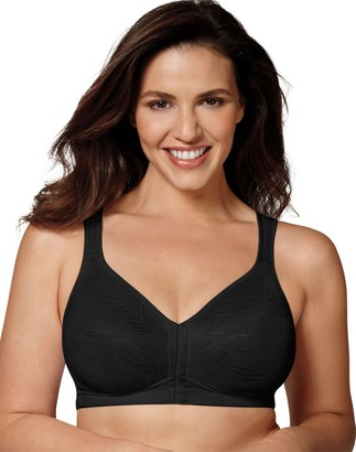Playtex Women's 18 Hour Front Close Wirefree Back Support Posture Full Coverage Bra USE525