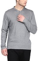 American Crew Men's Henley Full Sleeve Stripes T-Shirt - L (ACHN12-L)