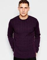 Asos Cable Knit Jumper - Purple