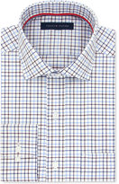 Tommy Hilfiger Men's Classic-Fit Non-Iron Medium Purple Check Dress Shirt