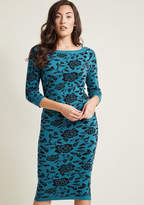 Collectif Cozy Collection Sweater Dress in XXL - Sheath Midi by Collectif from ModCloth