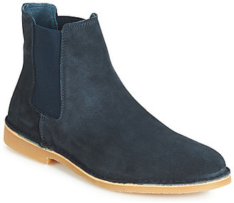 Selected ROYCE CHELSEA SUEDE men's Mid Boots in Blue