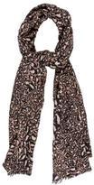 Diane von Furstenberg Leopard Cashmere Scarf w/ Tags