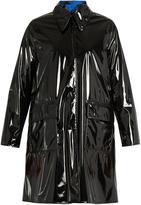 Maison Margiela Reversible PVC and plaid coat