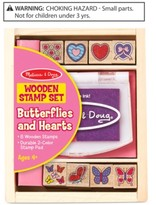 Melissa & Doug Butterflies & Hearts Wooden Stamp Set