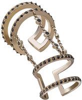 Misahara Korali Chained Black Diamond Finger Ring, Size 7