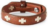 Fossil Brown Leather Cross Bracelet