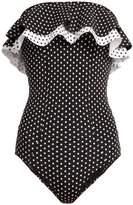 Lisa Marie Fernandez Sabine polka-dot print bonded swimsuit