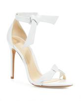 Alexandre Birman Clarita Knotted Leather Sandals, White