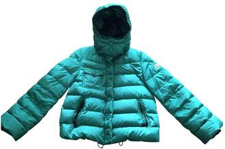 Moncler Hood Green Coat for Women