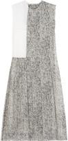 Nina Ricci Pleated printed silk-voile dress