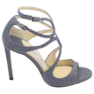 Jimmy Choo Lance Blue Leather Sandals