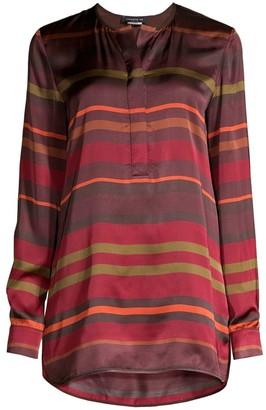 Lafayette 148 New York Autumn Stripe Tunic Blouse