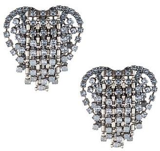 Dannijo Cecily Heart Pendant Earrings