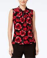 Tommy Hilfiger Twisted Floral-Print Top