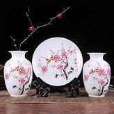 JHDH2 The living room is decorated in ceramic vases crafts home before Part 3-piece set vases three piece Mudan Yuk-maker, 3-piece set point white gourd bottle