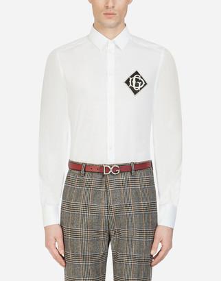 Dolce & Gabbana Cotton Gold-Fit Shirt With Logo