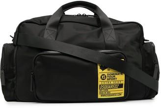 DSQUARED2 XS patch duffle bag