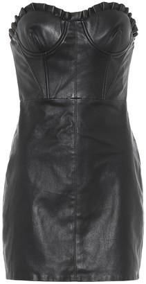 GRLFRND Julietta leather minidress