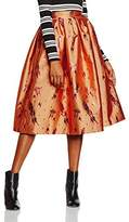 House of Holland Women's Spaceship Jacquard Dirndl Full Starred Skirt, ,8