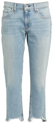 Rag & Bone Dre Low-Rise Skinny Distressed Boyfriend Jeans