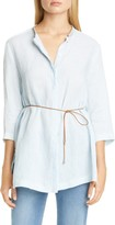 Fabiana Filippi Belted Linen Tunic Top