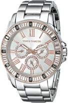 Vince Camuto Women's VC/5159GYRT Swarovski Crystal-Accented Multi-Function Silver-Tone Bracelet Watch