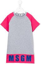 MSGM logo print sweatshirt dress - kids - Cotton - 4 yrs