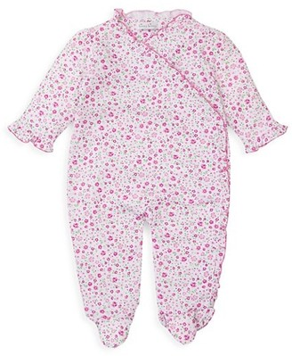 Kissy Kissy Baby Girl's Jacquard Print Coverall Footie