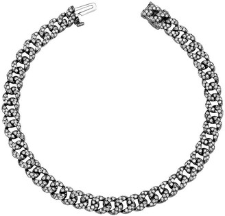 Shay 18kt Black Gold Mini Flat Pave Diamond Bracelet