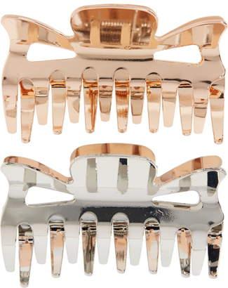 L. Erickson Set of 2 Retro Metal Jaw Clips