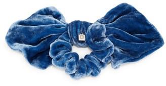 Dannijo Silk Velvet Bow Scrunchie