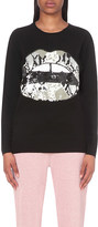 Markus Lupfer Natalie sequinned-lip wool jumper