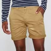 River Island Mens Tan brown rolled hem chino shorts