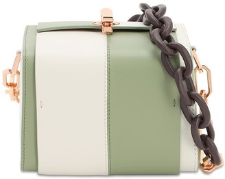 THE VOLON Po Cube Two Tone Leather Bag