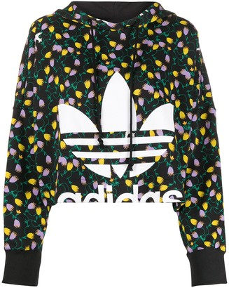 adidas All Over Print Cropped hoodie